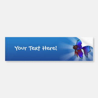 Cartoon Betta Fish / Siamese Fighting Fish Bumper Sticker