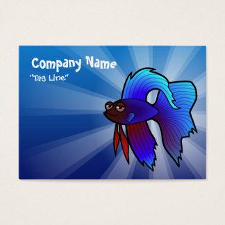 Cartoon Betta Fish / Siamese Fighting Fish Business Card