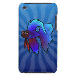 Cartoon Betta Fish / Siamese Fighting Fish iPod Touch Cases