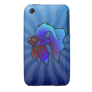 Cartoon Betta Fish Siamese Fighting Fish iPhone 3 Case-Mate Case