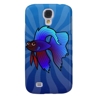 Cartoon Betta Fish Siamese Fighting Fish Samsung Galaxy S4 Case