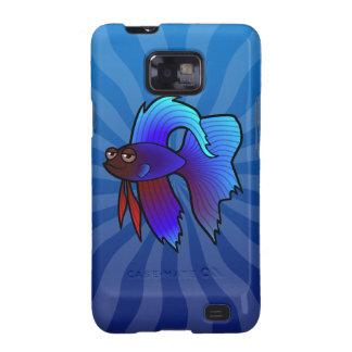 Cartoon Betta Fish / Siamese Fighting Fish Galaxy SII Case