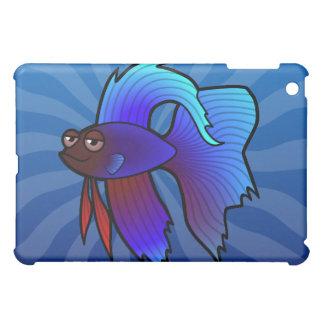 Cartoon Betta Fish / Siamese Fighting Fish iPad Mini Cover