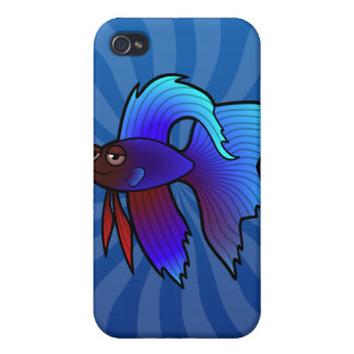 Cartoon Betta Fish Siamese Fighting Fish Covers For iPhone 4
