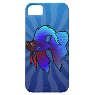 Cartoon Betta Fish / Siamese Fighting Fish iPhone SE/5/5s Case