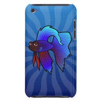 Cartoon Betta Fish / Siamese Fighting Fish iPod Case-Mate Case