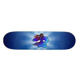 Cartoon Betta Fish / Siamese Fighting Fish Skateboard