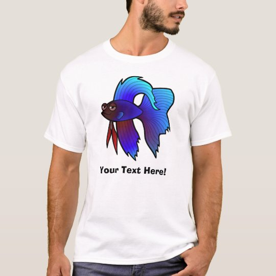 Cartoon Betta Fish / Siamese Fighting Fish T-Shirt
