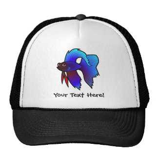 Cartoon Betta Fish / Siamese Fighting Fish Trucker Hat
