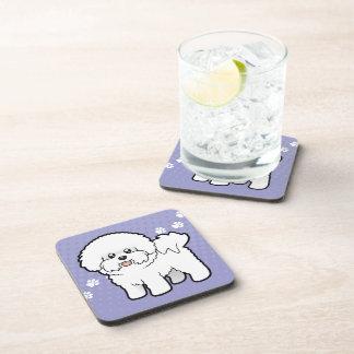 Cartoon Bichon Frise Beverage Coaster