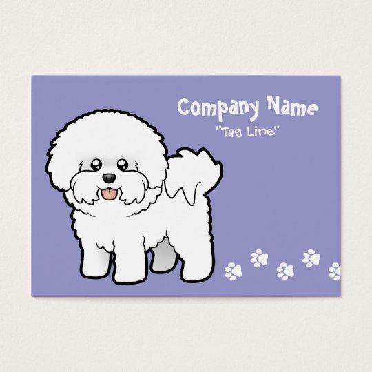 Cartoon Bichon Frise Business Card