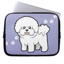 Neoprene Laptop Sleeve 10 inch with Bichon Frise Phone Cases design