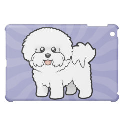 Case Savvy iPad Mini Glossy Finish Case with Bichon Frise Phone Cases design