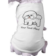 Cartoon Bichon Frise Dog T Shirt