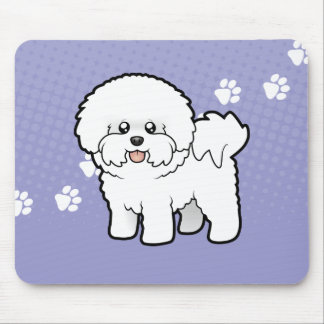 Cartoon Bichon Frise Mouse Pad