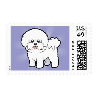 Cartoon Bichon Frise Stamps