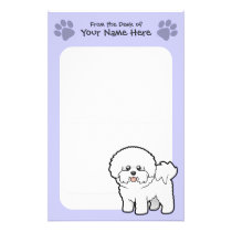 Cartoon Bichon Frise Stationery