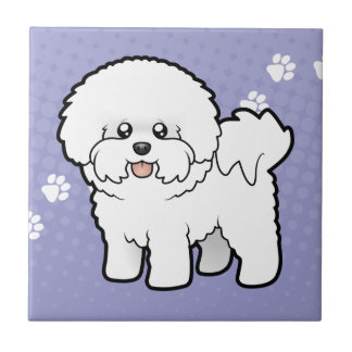 Cartoon Bichon Frise Tile