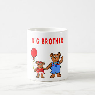 Cartoon big brother bear & sister mug for kids