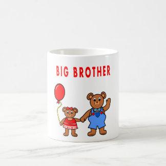 Cartoon big brother bear & sister mug for kids