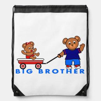 Cartoon Big Brother Little Sister Bears Backpack