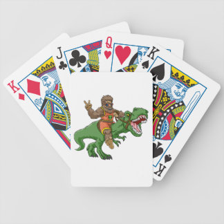 cartoon bigfoot-cartoon t rex-T rex bigfoot Bicycle Playing Cards