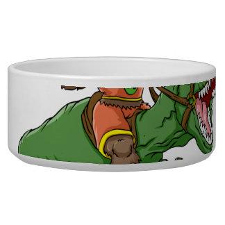 cartoon bigfoot-cartoon t rex-T rex bigfoot Bowl