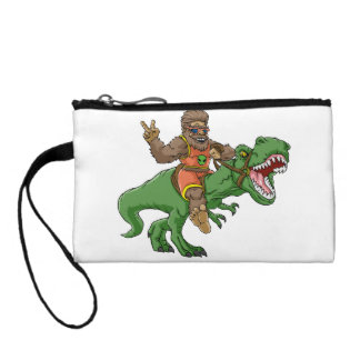 cartoon bigfoot-cartoon t rex-T rex bigfoot Change Purse