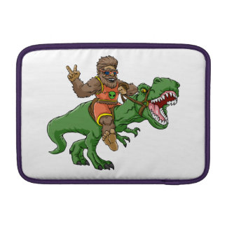 cartoon bigfoot-cartoon t rex-T rex bigfoot MacBook Sleeve