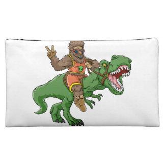 cartoon bigfoot-cartoon t rex-T rex bigfoot Makeup Bag