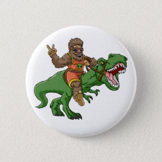 cartoon bigfoot-cartoon t rex-T rex bigfoot Pinback Button