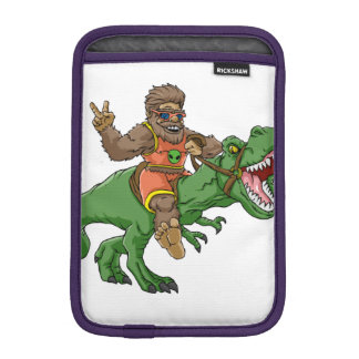 cartoon bigfoot-cartoon t rex-T rex bigfoot Sleeve For iPad Mini