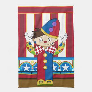 Cartoon Bigtop Circus Clown Kitchen Towel