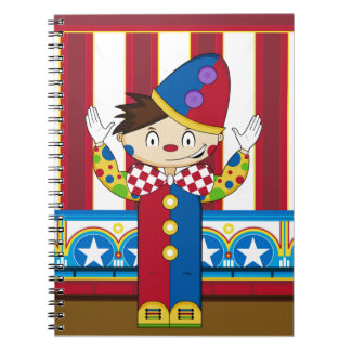 Cartoon Bigtop Circus Clown Notebook