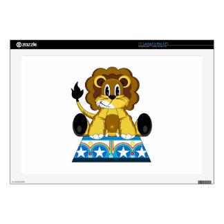 """Cartoon Bigtop Circus Lion on Podium Decal For 17"""" Laptop"""