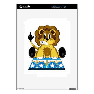 Cartoon Bigtop Circus Lion on Podium Decal For iPad 2