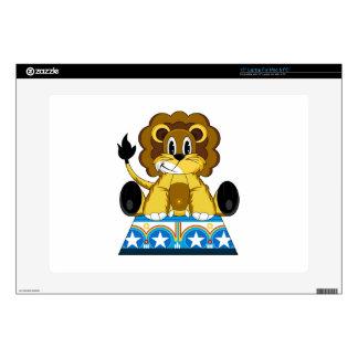 """Cartoon Bigtop Circus Lion on Podium Skin For 15"""" Laptop"""