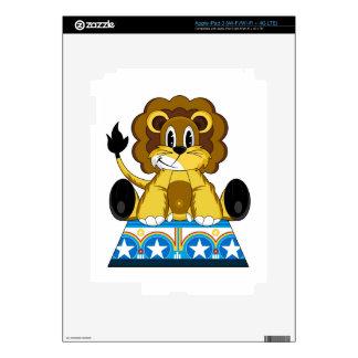 Cartoon Bigtop Circus Lion on Podium Skins For iPad 3