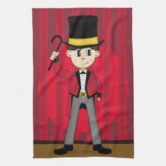 Cartoon Bigtop Circus Ringmaster Kitchen Towel