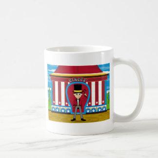 Cartoon Bigtop Circus Ringmaster Classic White Coffee Mug