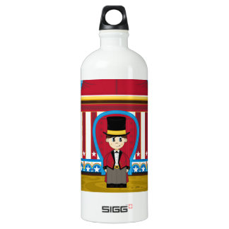 Cartoon Bigtop Circus Ringmaster Water Bottle