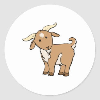 Cartoon Billy Goat Classic Round Sticker