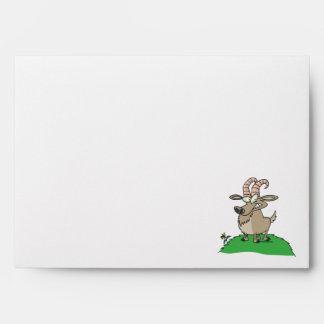cartoon billy goat envelopes