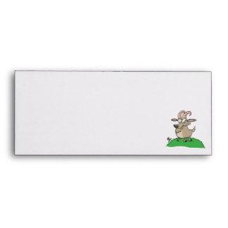 cartoon billy goat envelope