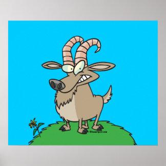 cartoon billy goat poster