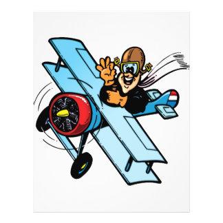 Cartoon Biplane Flyer