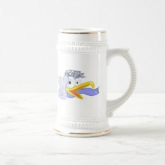 Cartoon Bird Flashing the Peace Sign Coffee Mugs