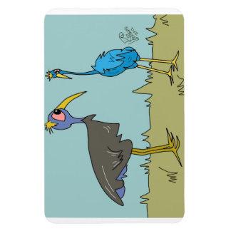 Cartoon Birds on a magnet