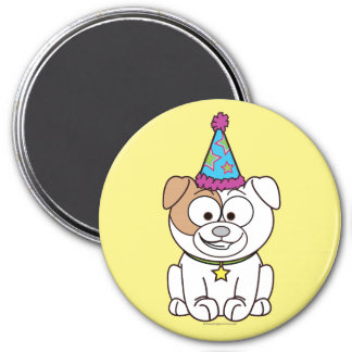 Cartoon Birthday Bulldog Magnet