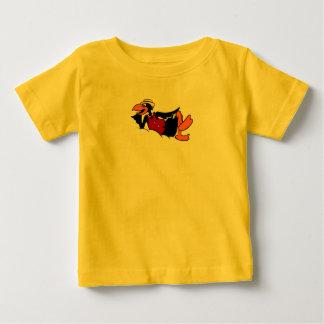 Cartoon- Black Bird Baby T-Shirt